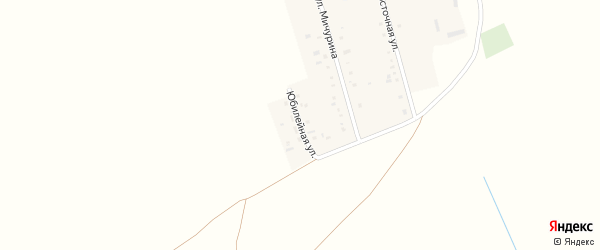 Юбилейная улица на карте села Платовки с номерами домов