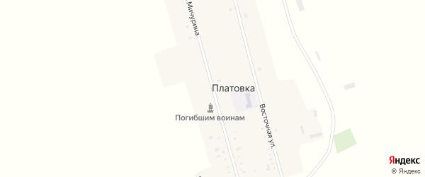 Улица Мичурина на карте села Платовки с номерами домов