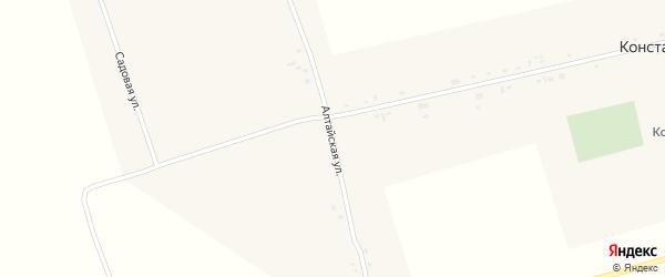 Алтайская улица на карте села Константиновки с номерами домов