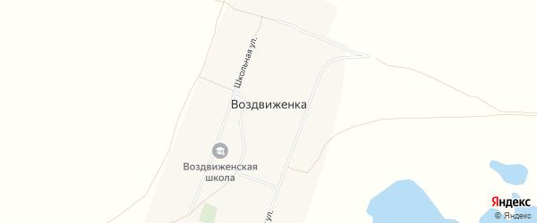 Карта села Воздвиженки в Алтайском крае с улицами и номерами домов