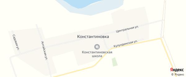 Карта села Константиновки в Алтайском крае с улицами и номерами домов