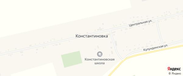 Садовая улица на карте села Константиновки с номерами домов