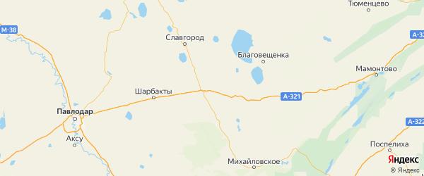 Карта Кулундинского района Алтайского края с городами и населенными пунктами