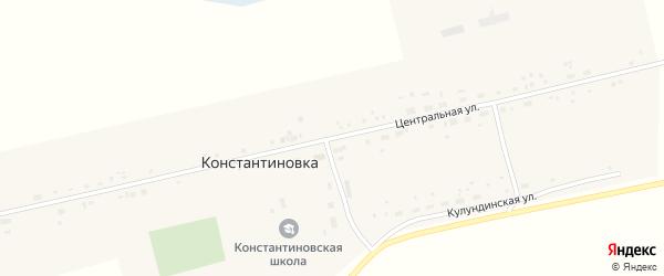 Центральная улица на карте села Константиновки с номерами домов