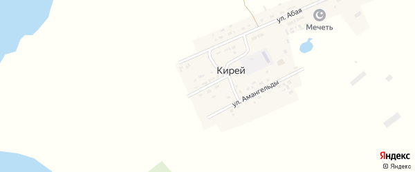 Молодежная улица на карте села Кирея с номерами домов