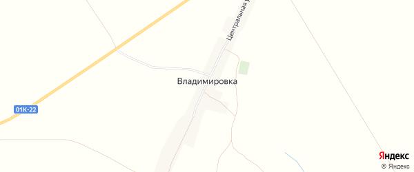 Карта села Владимировки города Славгорода в Алтайском крае с улицами и номерами домов