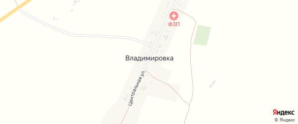 Малая улица на карте села Владимировки с номерами домов