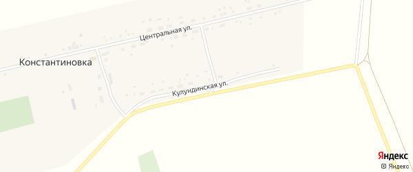 Кулундинская улица на карте села Константиновки с номерами домов