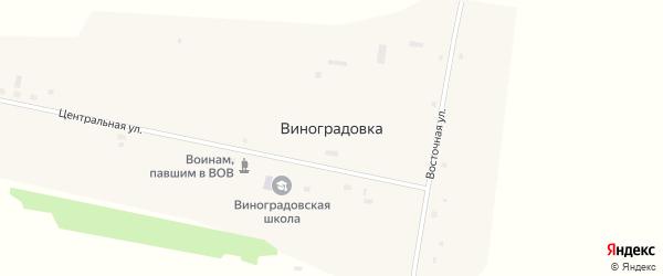 Целинная улица на карте села Виноградовки с номерами домов