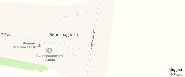 Восточная улица на карте села Виноградовки с номерами домов