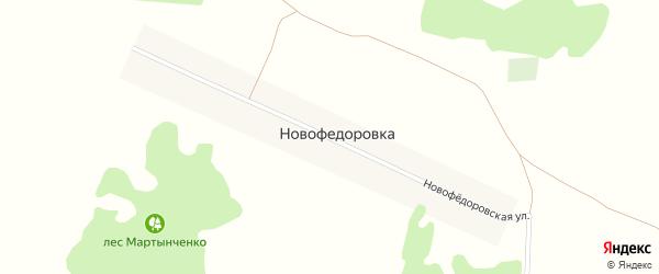 Новофедоровская улица на карте поселка Новофедоровки с номерами домов