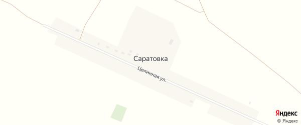 Целинная улица на карте села Саратовки с номерами домов