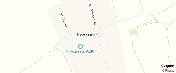 Улица Лермонтова на карте села Николаевки с номерами домов