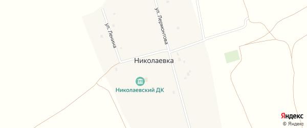 Улица Ленина на карте села Николаевки с номерами домов