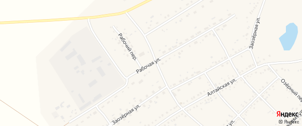 Рабочая улица на карте села Ключи с номерами домов