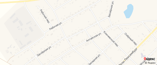Заозерная улица на карте села Ключи с номерами домов