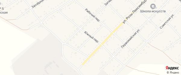 Целинная улица на карте села Ключи с номерами домов
