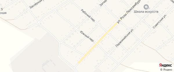 Южный переулок на карте села Ключи с номерами домов