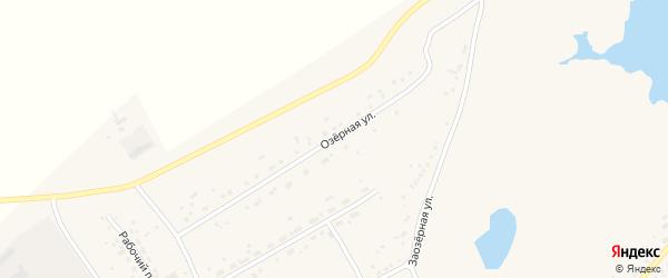 Озерная улица на карте села Ключи с номерами домов