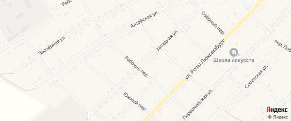 Западная улица на карте села Ключи с номерами домов