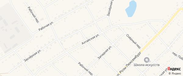 Алтайская улица на карте села Ключи с номерами домов