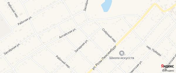 Ключевской переулок на карте села Ключи с номерами домов