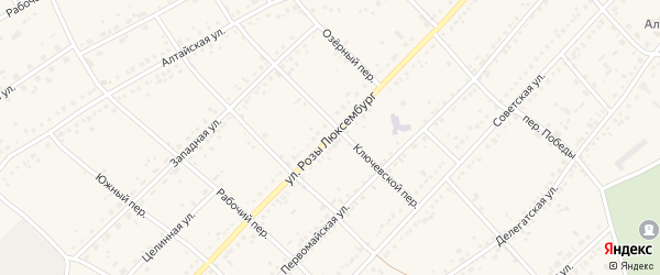 Улица Розы Люксембург на карте села Ключи с номерами домов
