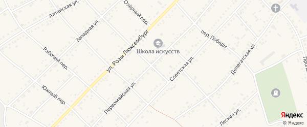 Первомайская улица на карте села Ключи с номерами домов