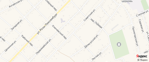 Советская улица на карте села Ключи с номерами домов