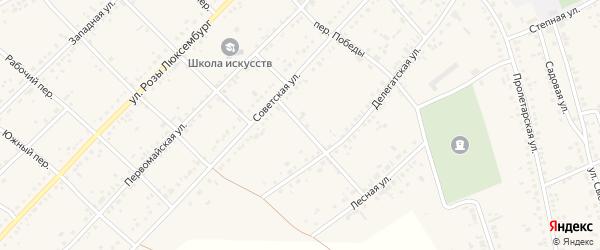 Больничный переулок на карте села Ключи с номерами домов