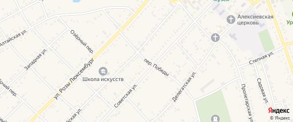 Переулок Победы на карте села Ключи с номерами домов