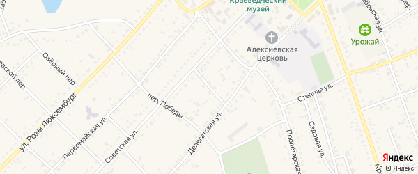 Советский переулок на карте села Ключи с номерами домов