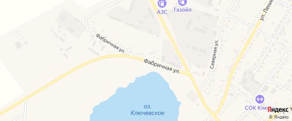 Фабричная улица на карте села Ключи с номерами домов