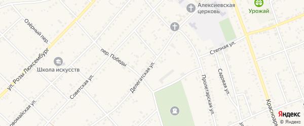 Делегатская улица на карте села Ключи с номерами домов
