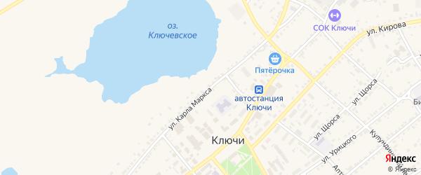 Улица Карла Маркса на карте села Ключи с номерами домов