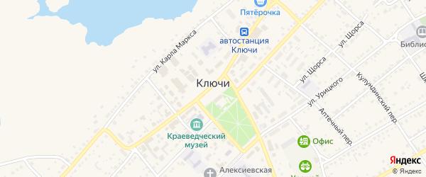 Солнечный переулок на карте села Ключи с номерами домов