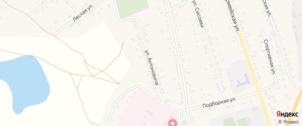 Улица Антоновича на карте села Ключи с номерами домов