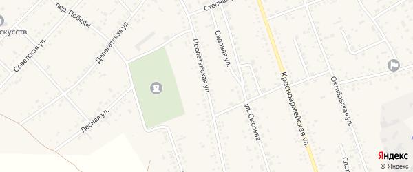 Пролетарская улица на карте села Ключи с номерами домов