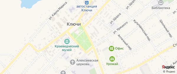 Проспект Гагарина на карте села Ключи с номерами домов