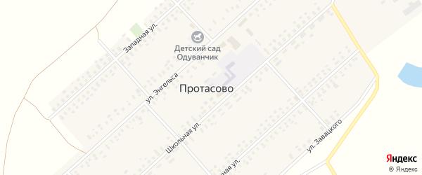 Западная улица на карте села Протасово с номерами домов