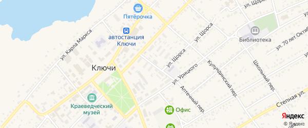 Аптечный переулок на карте села Ключи с номерами домов