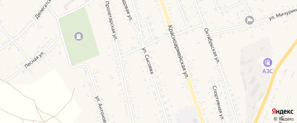 Улица Сысоева на карте села Ключи с номерами домов