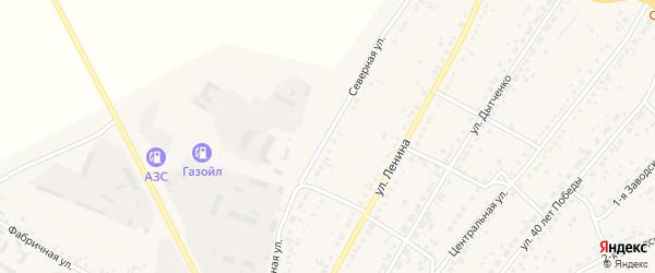 Северная улица на карте села Ключи с номерами домов