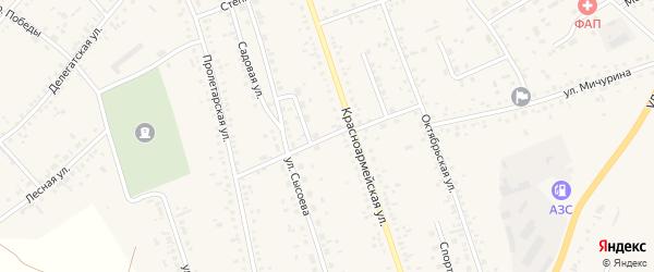 Переулок Строителей на карте села Ключи с номерами домов