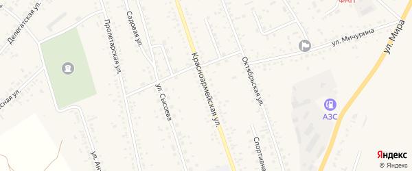Красноармейская улица на карте села Ключи с номерами домов
