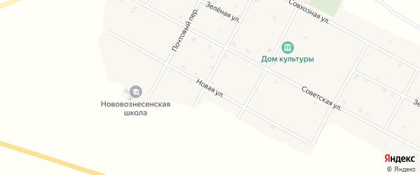 Новая улица на карте села Нововознесенки с номерами домов
