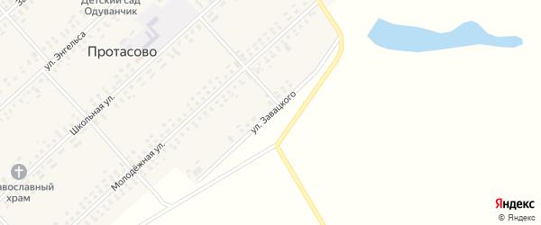 Улица Завацкого на карте села Протасово с номерами домов