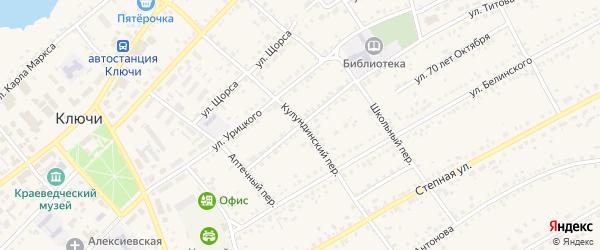 Улица Чапаева на карте села Ключи с номерами домов