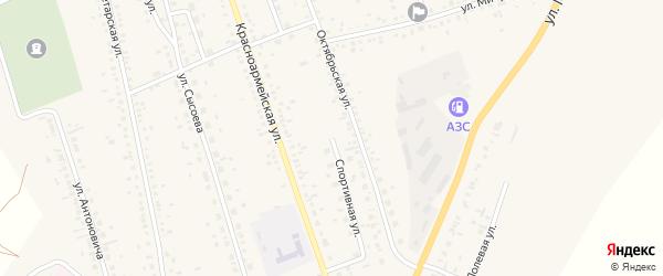 Спортивная улица на карте села Ключи с номерами домов