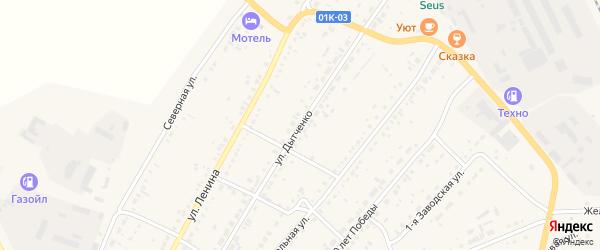 Улица Дытченко на карте села Ключи с номерами домов